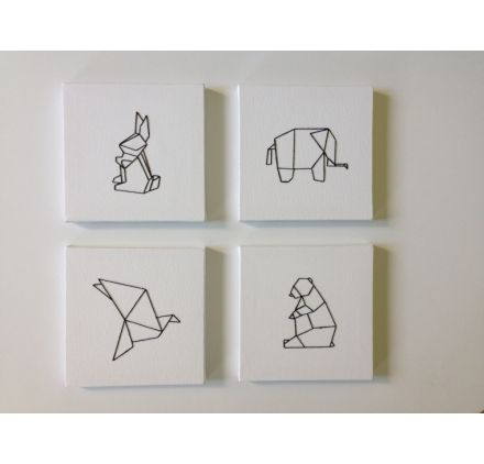 Tuto : Réaliser un tableau brodé origami, par Caro