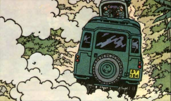 Tintin and the Picaros - Land Rover 109 (long wheel base)