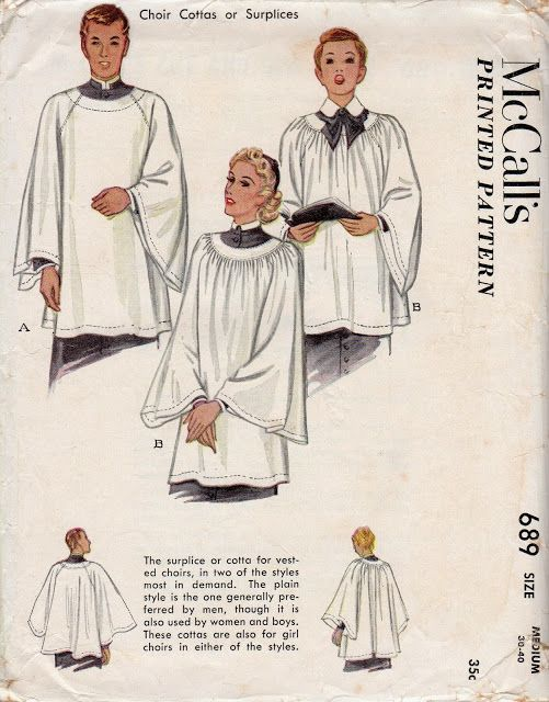 McCall's 689 Surplice. Note the little gussets under the arms - a relic of the ancestors of this garment.