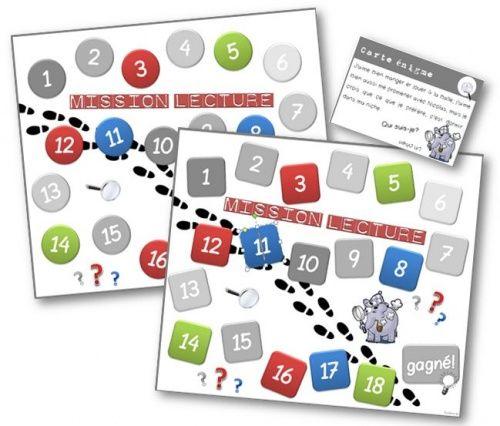 Un jeu de plateau : les inférences en lecture. En autonomie en fond de classe ou en aide personnalisée.