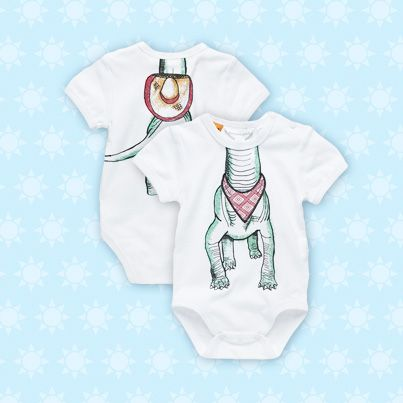 Pumpkin Patch Dino Bodysuit - 100% cotton, available in sizes NB to 24m http://www.pumpkinpatchkids.com/