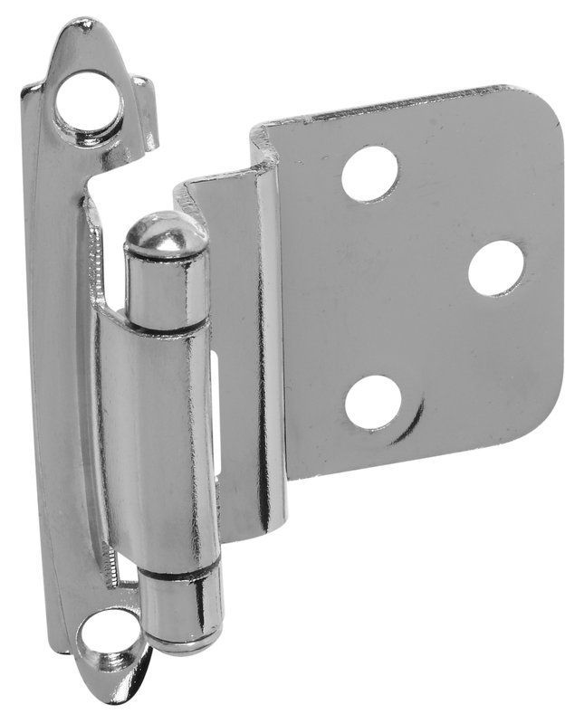 Stanley Home Designs BB8195 2.75 Inch Self-Closing .375 Offset Standard Spring C Polished Chrome Cabinet Hinges Inset Hinges Traditional Hinges
