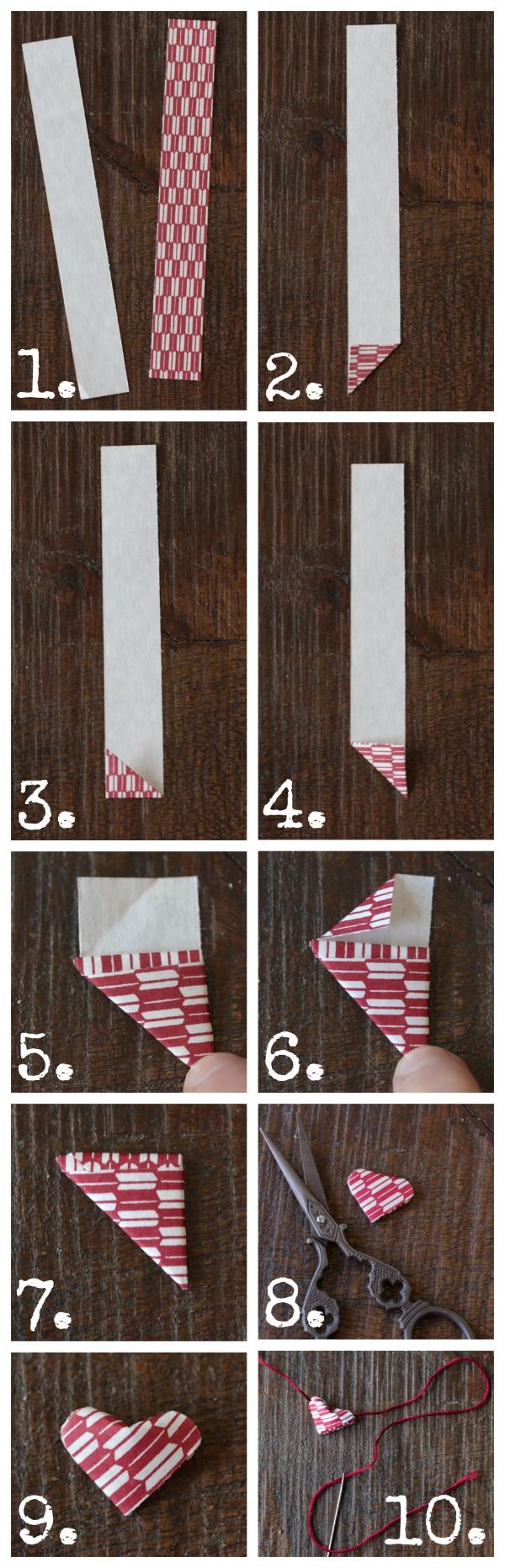 how to make origami heart garland from www.alyssaandcarla.com {Valentine craft idea}