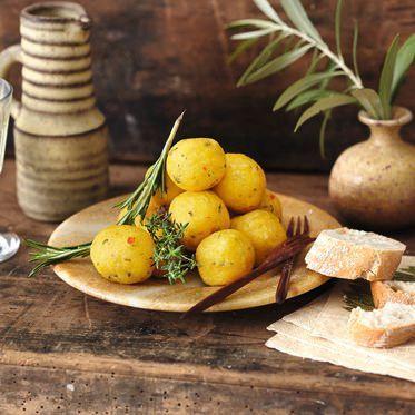 Polentabällchen-Fondue Rezept | Küchengötter