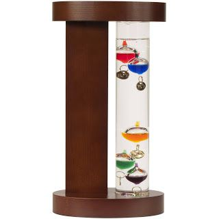 Galileo Thermometer with Wood Stand - Only $4.88 + FREE Store Pickup! http://www.thecafecoupon.com/2017/04/galileo-thermometer-with-wood-stand.html