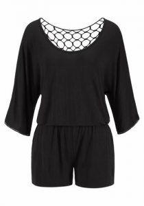 günstig kaufen | LASCANA Damen Overall mit Häkeleinsatz im Rücken schwarz | 06970086198660