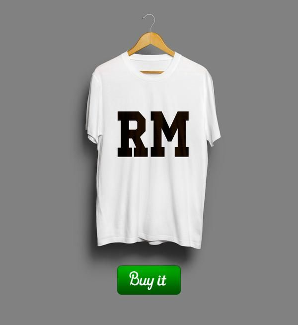 RM | #Ronaldo #Реал #Мадрид #Real #Madrid #Club #Futbol #футбол #футболка #tshirt #RM