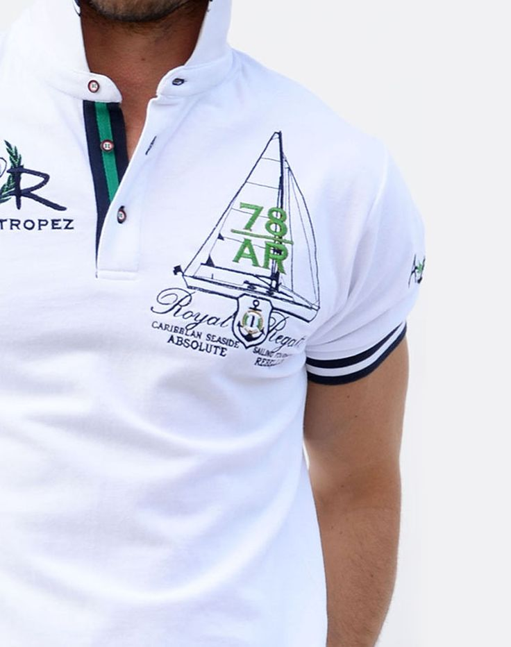 Complete your look with the impressively designed Absolute Rebellion Navigator White.  This designer polo features an easy to match white base that will go perfectly with your favorite pair of jeans.  complete with tasteful signature style embroidery.