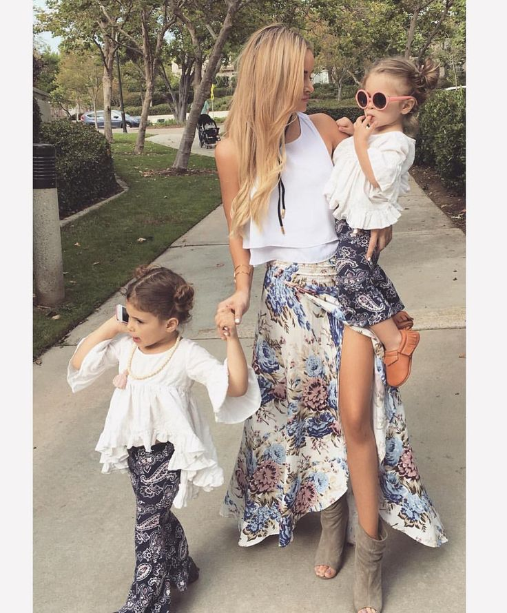 This babe Amanda Stanton and her two cuties in our Auguste the Label skirt. Shop it at our West Hollywood location