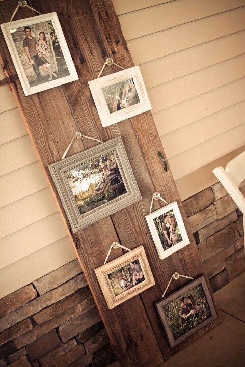 our engagement pic display-- uh hello adorable idea!