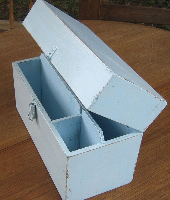 Wooden tool box wood tool box old tool box by Underlyingsimplicity, $40.00
