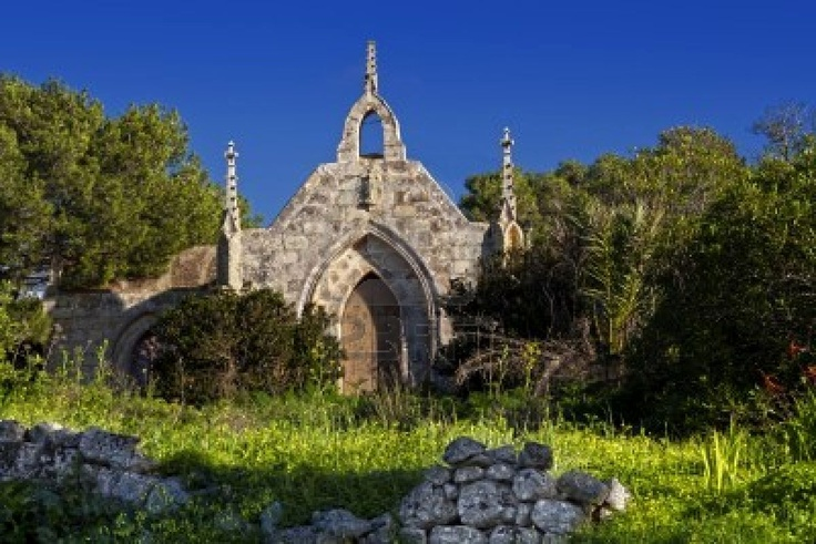 Saint Simeon Chapel next to a beautiful derelict castle lying on the Wardija hilltop in Malta