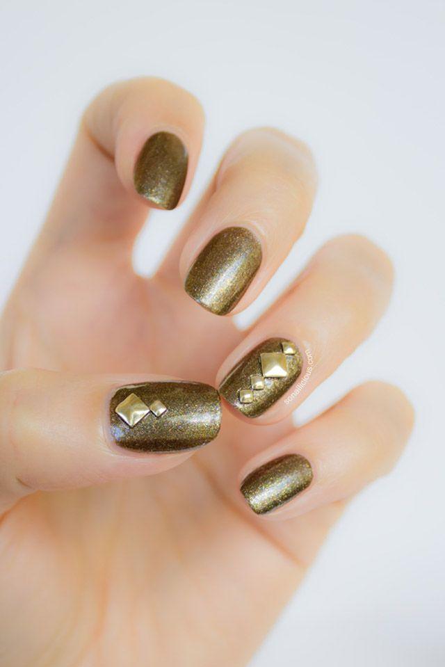 Studded nail art  #studs #nails