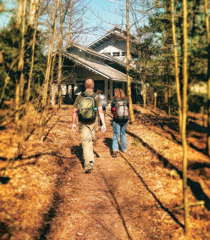 Len Foote Hike Inn in Dawsonville, #Georgia is only accessible by foot over a moderate 5-mile trail!