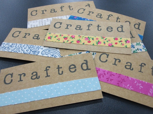 super cute handmade business cards  ♥ craft show and