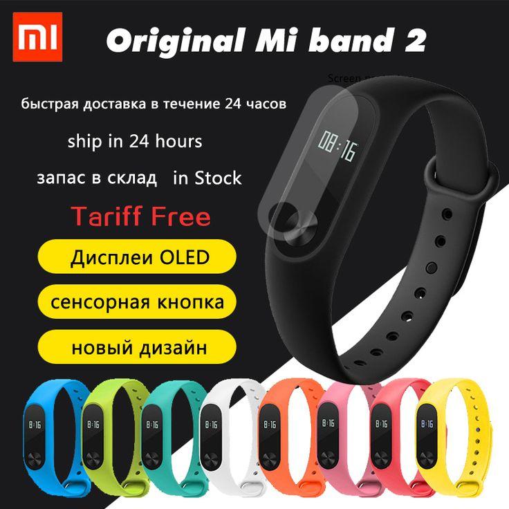 Dalam magazzino originale xiaomi mi band 2 intelligente wristband del braccialetto band2 ip67 schermo oled pulse heart tikus touchpad