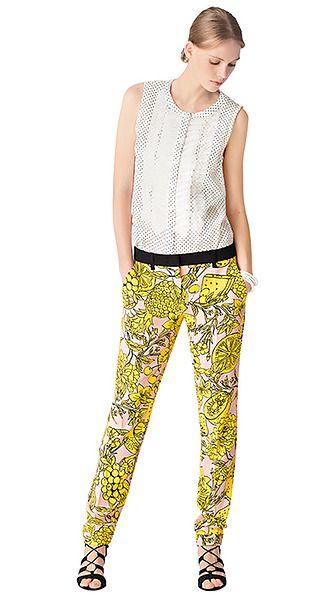 Pantalon van crêpe | marc-cain.com/nl