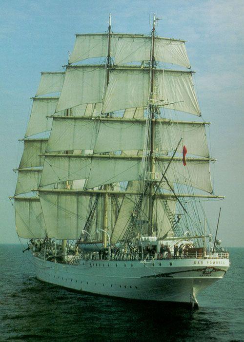 Dar Pomorza - (1909), ex-Prinzess Eitel Friedrich, trois-mâts carré à coffre à longue dunette, d'origine allemande, qui servit de navire-école pour la marine marchande allemande, puis polonaise. bateau musée à Gdynia (Pologne).