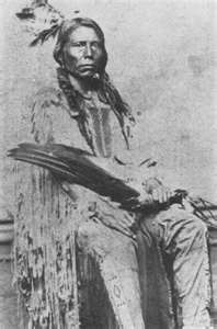 Crazy Horse born on the Republican River about 1845. He was killed at Fort Robinson, Nebraska, in 1877, so that he lived barely thirty-three years.