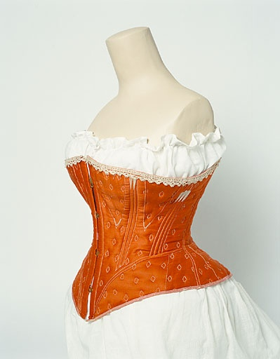 orange 1860-1870 corset