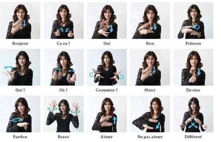 La langage des signes