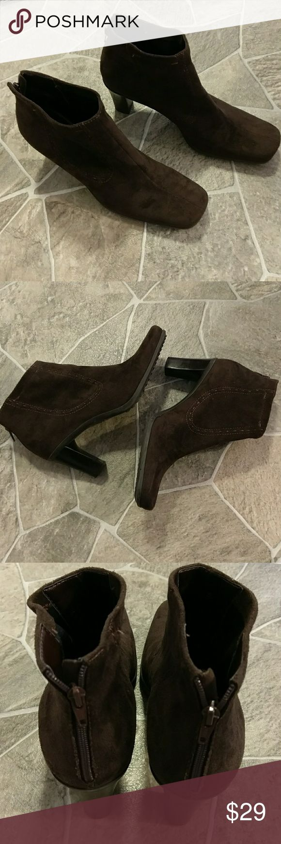 Sale! Franco Sarto Booties 7.5 Very gently used, super nice! Size 7.5 Franco Sarto Shoes Ankle Boots & Booties