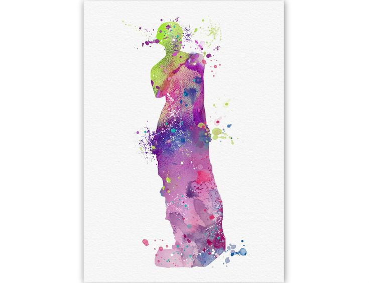 Arts & Prints : GREEK SILHOUETTES - Aphrodite's statue
