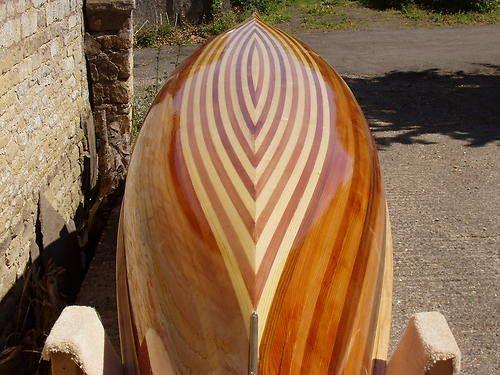 Canadian Canoe Fabulous Wood strip Canoe Sunnyside Cruiser handmade in the UK.