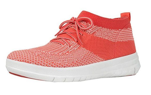 #FitFlop Fitness Schuhe - Fitflop Uberknit, Slip On High Top, orange.
