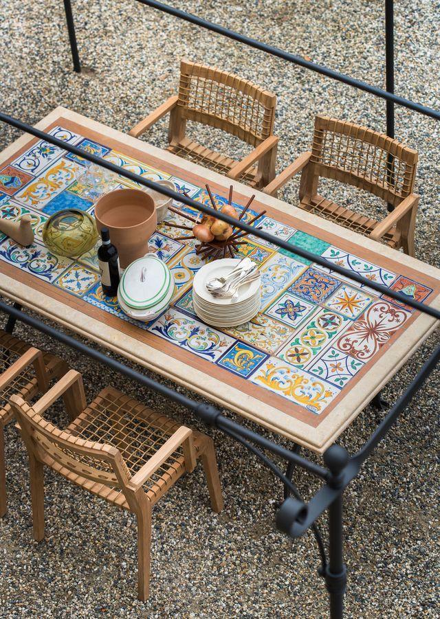 Table De Jardin Selection Tendance Table De Jardin Plateaux De Table En Mosaique Tables De Patio