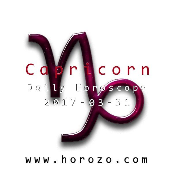 Capricorn Daily horoscope for 2017-03-31: Use your great energy to boost your love life somewhat today: it's a sure bet that you're able to attract the right kind of attention or make things right between you and your sweetie.. #dailyhoroscopes, #dailyhoroscope, #horoscope, #astrology, #dailyhoroscopecapricorn