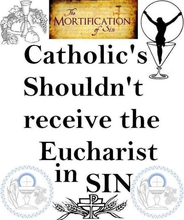 """1 Corinthians 11:27 """"Therefore, whoever eats the bread or drinks the cup of the Lord in an unworthy manner will be guilty of sinning against the body and blood of the Lord."""" https://www.facebook.com/lovingjesusdivinemercyBody, Me Quotes, Unworthy Manners, Corinthians 11 27, Catholic Boards, Catholic Girls, 1 Corinthians, Catholic Faith, Lord"""