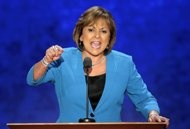 FILE - In this Aug. 29, 2012, file photo, New Mexico Governor Susana Martinez addresses the Republican National Convention in Tampa, Fla. A political generation ago, the West signaled the nation's rightward swing -- from the emergence of Ronald Reagan to the success of tax limitation ballot measures in California and Colorado. But now the fabled expanse of jagged peaks, arid deserts and emerald coastlines is trending in a different direction. From Washington state -- where voters in November…