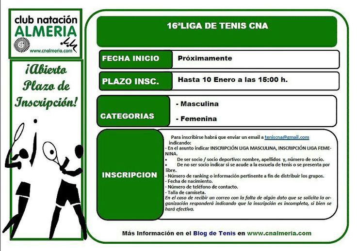 XVI Liga de Tenis del Club Natación Almería