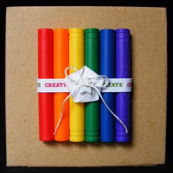 Recycle Old Bathtub Crayon Cases To Create A Simple And Unique Book Cover!  | Crafty Items | Pinterest | Tutorials, Scrapbook Layouts And Rainbows