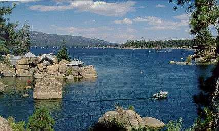 Big Bear Lake, California  Such a cool spot.  We took the pirate ship cruise when we were there.