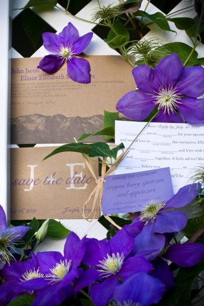 kraft paper and purple  Amanda Kertz