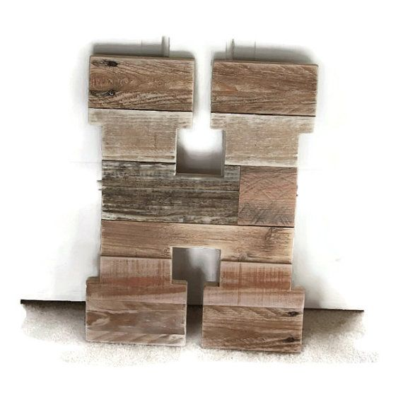 Rustic Home Decor Wood Letter Reclaimed Wood Letter by RayMels