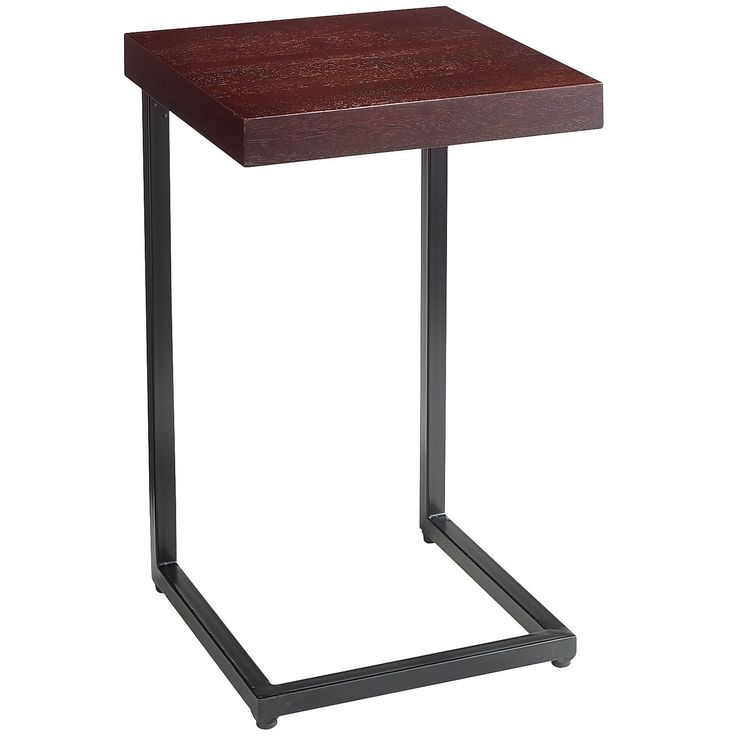 Lovely Wood Top Espresso C Table (for Sofa Arm)    Pier One