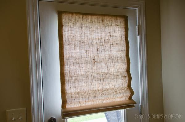 PRICE IS $62.00 YOU PAY 1/2 DOWN $31.00 This Roman Shade is made from Plain Utility Burlap, Mounted on a 1 X 2 Board, and Lined. Measure Inside your window, the