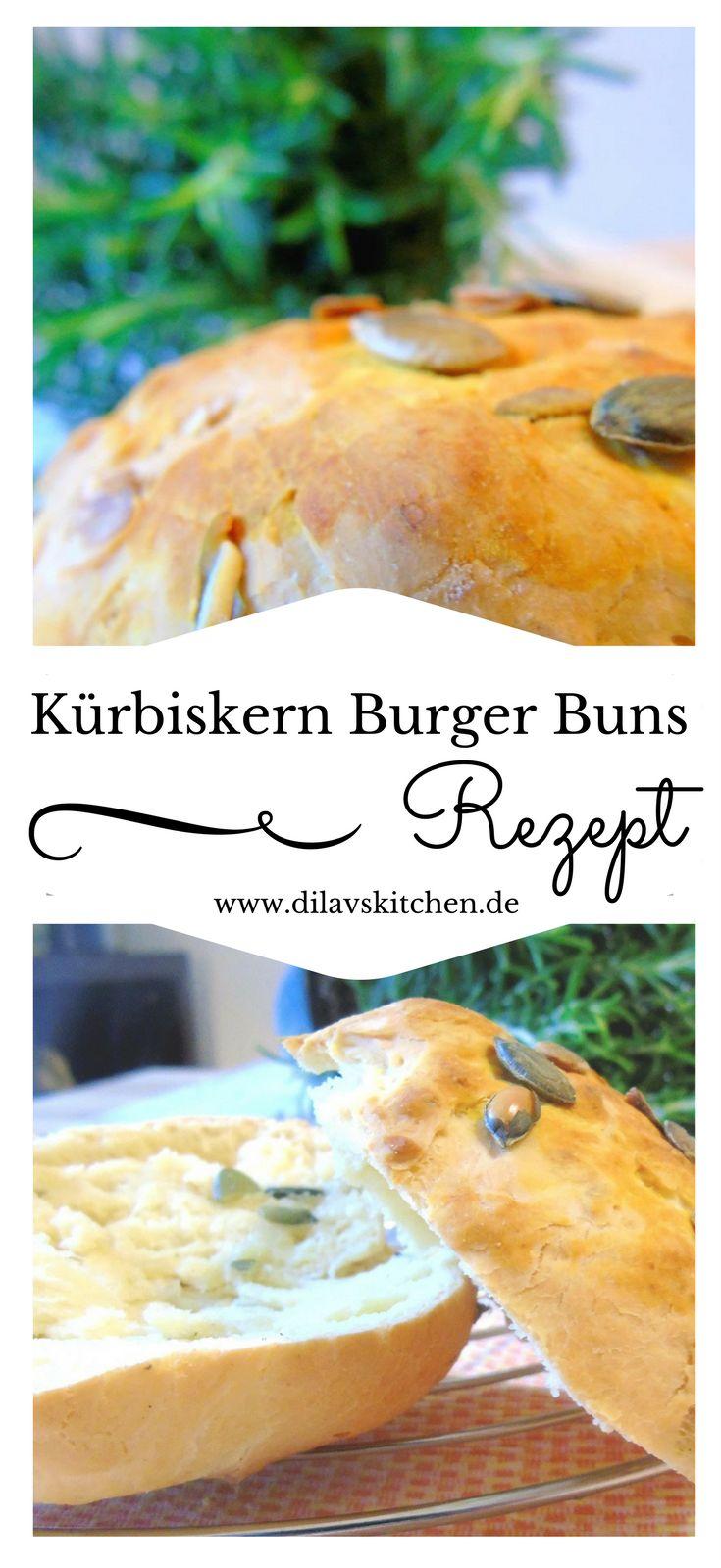 Brioche Burger Buns sind die Krönung für jeden Burger? Dann musst du unbedingt diese Kürbiskern Burger Buns ausprobieren. Die lassen garantiert jedes Burgerloverherz höher schlagen. Hol dir jetzt das Rezept auf www.dilavskitchen.de #brot #brötchen #rezept #foodblog #backen #buns #burger #burgerbuns #kürbiskern