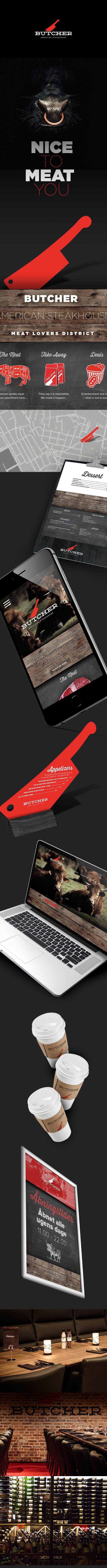 Butcher - American Steakhouse on Behance