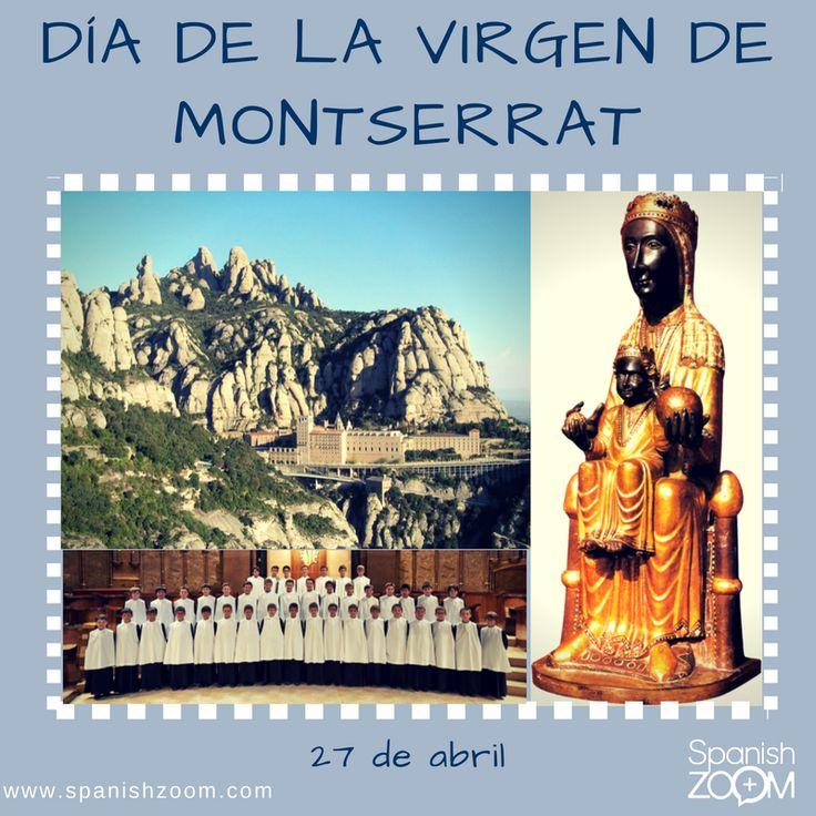 """Hoy, 27 de abril, celebramos la festividad de la Virgen de Montserrat, conocida popularmente como """"#LaMoreneta"""" por su tez oscura. Es la patrona de #Cataluña y su imagen se venera en el #MonasterioDeMontserrat, punto de peregrinaje para creyentes y de visita obligada para los turistas. Destaca la #escolanía, que es uno de los coros de niños cantores más antiguos de Europa. ¡Muchas felicidades a todas las #Montserrat y #Montse!  #27abril #barcelona #españa #spain #lovespain #spanishzoom"""