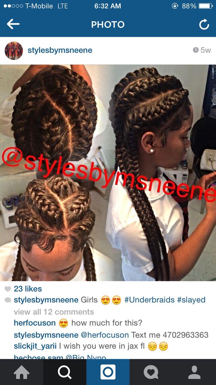 Under braids , goddess braids
