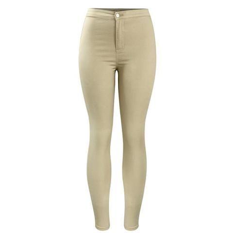 Curvy High Waist Stretchy Khaki Jean