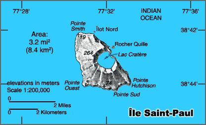 Map of Saint Paul island.