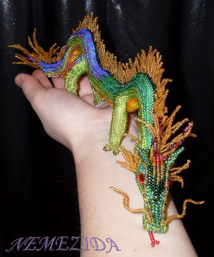 Bright chinese dragon by  NEMEZIDA (http://biser.info/node/196464)