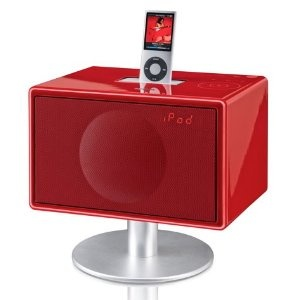 Geneva Model S Micro HiFi System with iPod Dock and Integrated Speakers - Gloss Red