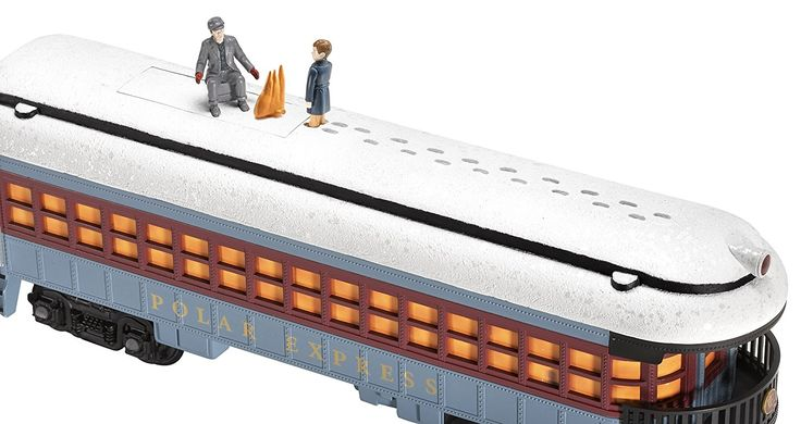 The Lionel Polar Express train for Christmas tree was inspired from the movie of the same name and please everybody looking at it riding around the tree. #ChristmasTreeTrains - Lionel Polar Express Train Set - G-Gauge