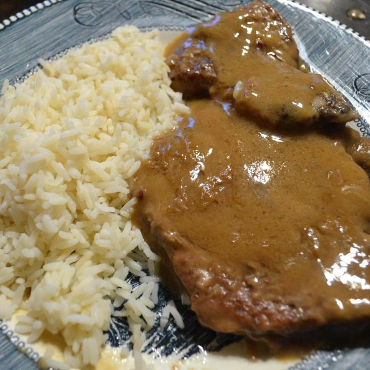 This recipe is very similar tasting to the country style steak at K&W Cafeteria style restaurants. I use Uncle Ben's boil in bag rice with this as it tastes almost the same as K&W, but mine may be a little better, if I do say so myself!  ;)